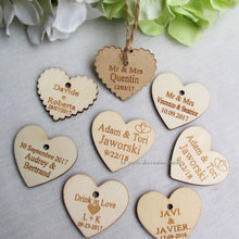 Personalized Gift Tags With String Engraved Wedding Name And Date
