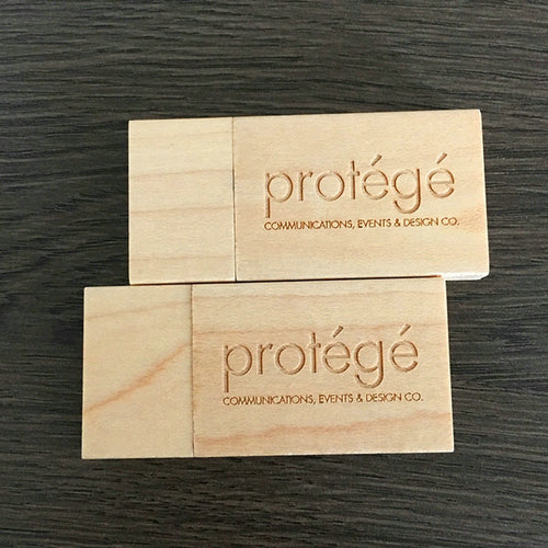 Personalized Wooden USB Drives With Name And Logo
