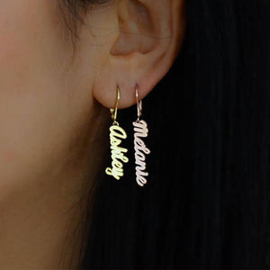 Personalized Gold Name Earrings On Sale