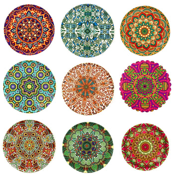 Mandala Metal Coasters