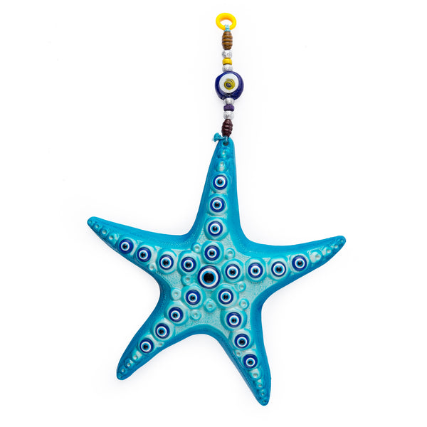 Evil Eye Ceramic Starfish