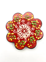 Hand-painted Coasters - Red
