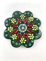 Hand-Painted Coasters - dark green