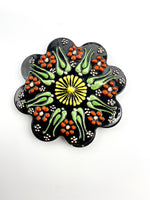 Hand-painted Coasters - brown