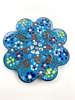 Hand-Painted Coasters - Light Blue