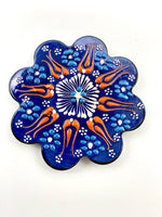 Hand-Painted Coasters - Blue