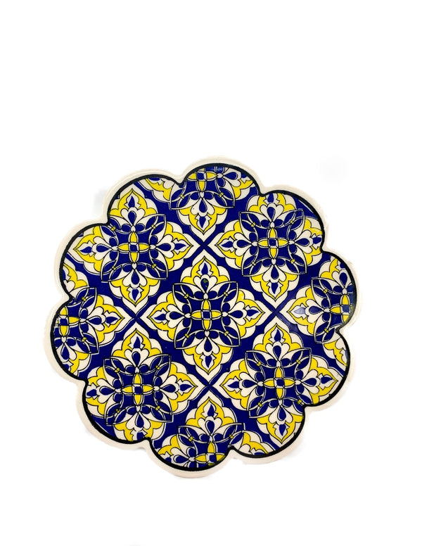 Trivet - Blue & Yellow