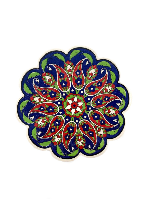 Trivet - Leaves in Blue, Red & Green
