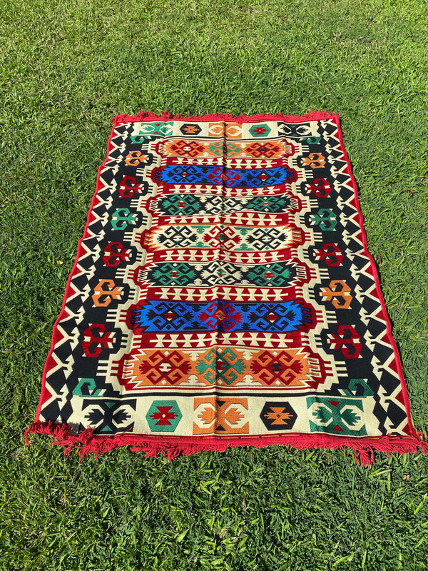 Large Turkish Kilim / Rug