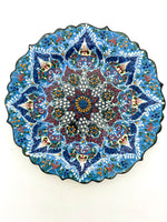 Large Kutahya Ceramic Plate - 12 inches