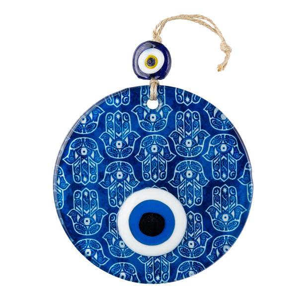 Evil Eye Round Glass