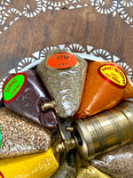 Turkish Spice Basket w/ Brass Grinder