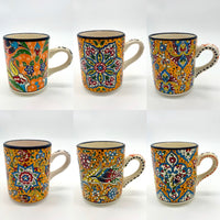 Hand-painted Turkish Mugs - Oranges