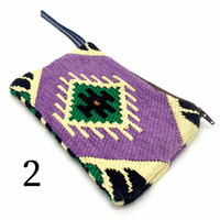 Kilim Pouches - Purples and Pink