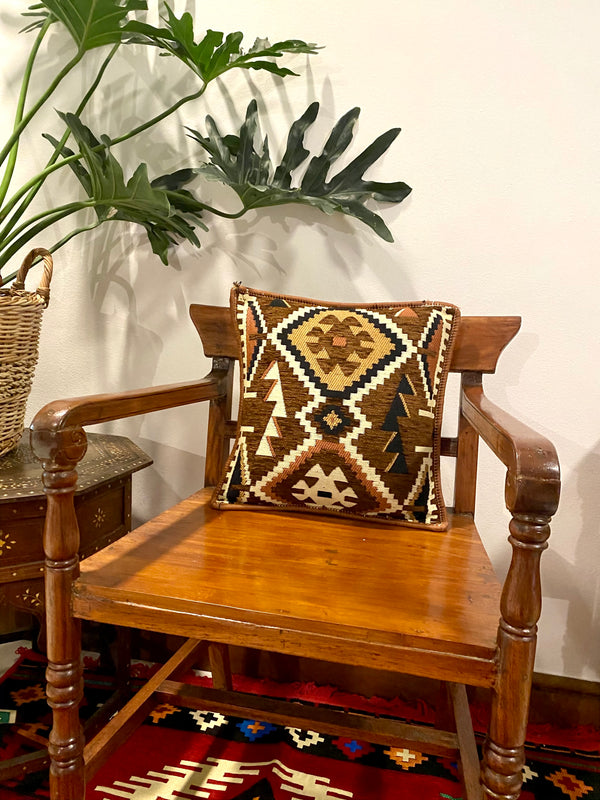 Kilim Pillow Covers - Tan & Browns