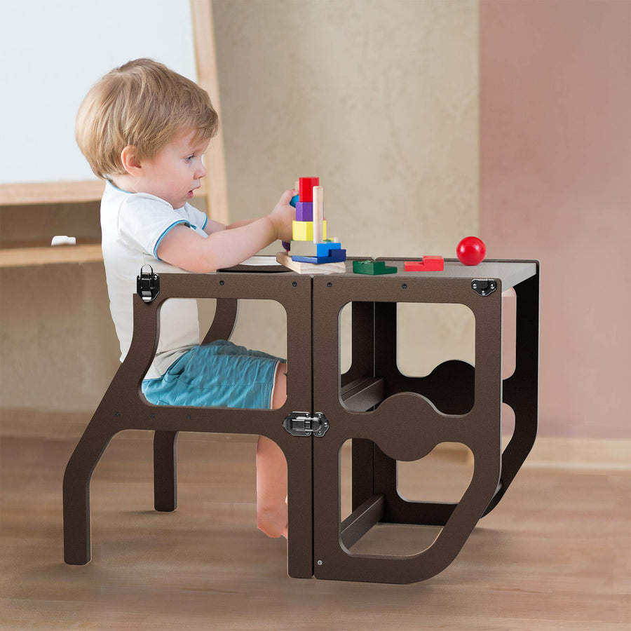 Kitchen Step Stool & Desk for Toddlers