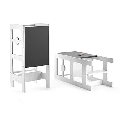 Kitchen Step Stool & Chalkboard Desk for Toddlers