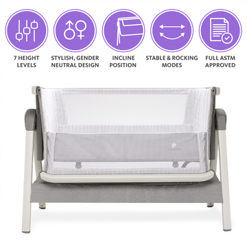 Bed Side Crib for Baby and Urine Pad Sleeper Bassinet Includes Travel Case Mattress Sheet Keep Newborn Babies