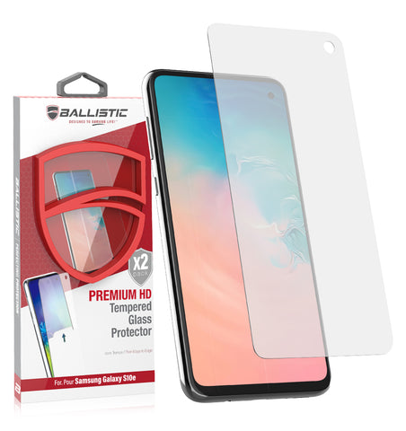 2-Pack Premium Glass Screen Protector  / Samsung Galaxy S10e - Ballistic