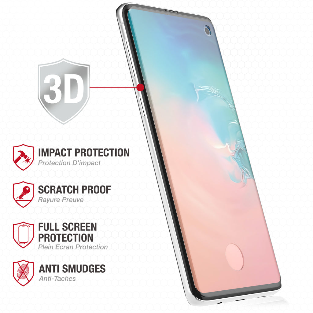 Full Edge Tempered Glass Protector / Samsung Galaxy S10 - Ballistic
