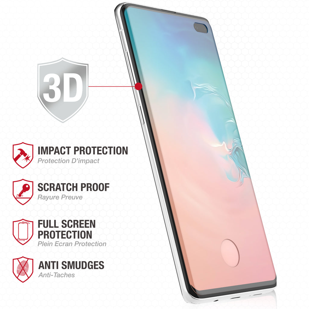 Full Edge Tempered Glass Protector / Samsung Galaxy S10 Plus - Ballistic
