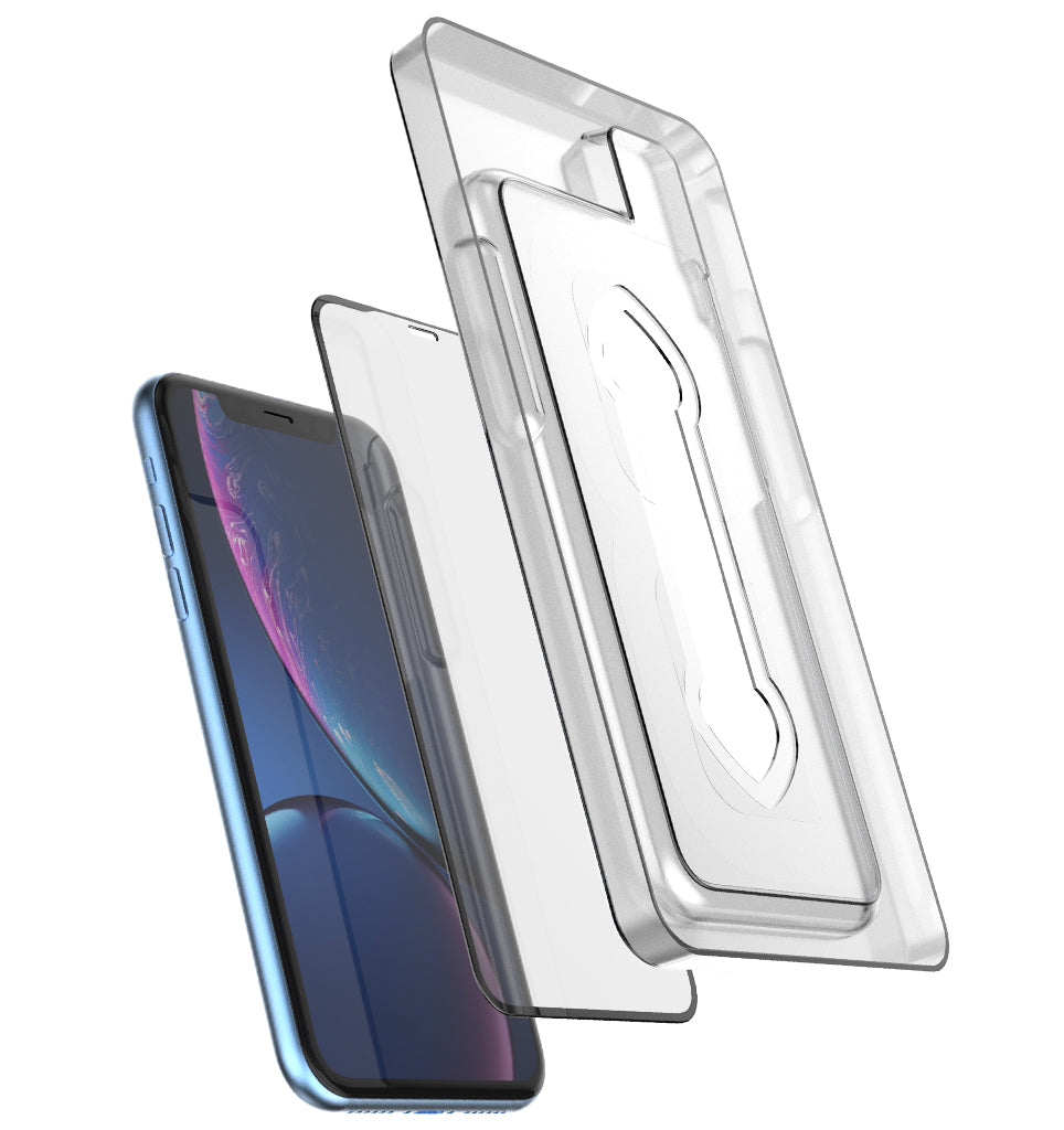 Full Edge Tempered Glass Protector (Installation Tray) / iPhone Xr - Ballistic