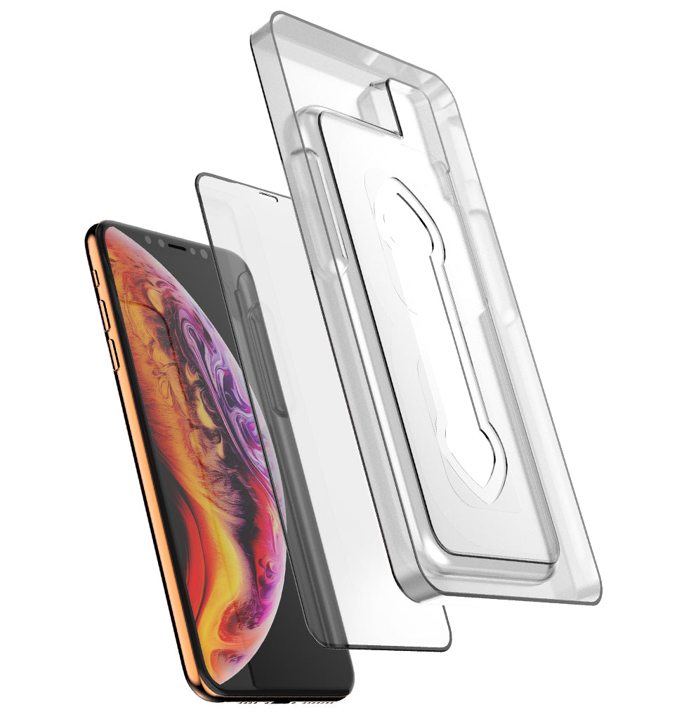 Full Edge Tempered Glass Protector (Installation Tray) / iPhone Xs Max - Ballistic