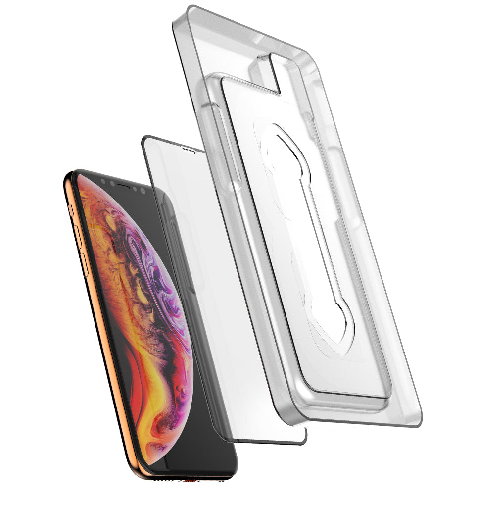 Full Edge Tempered Glass Protector (Installation Tray) / iPhone Xs - Ballistic