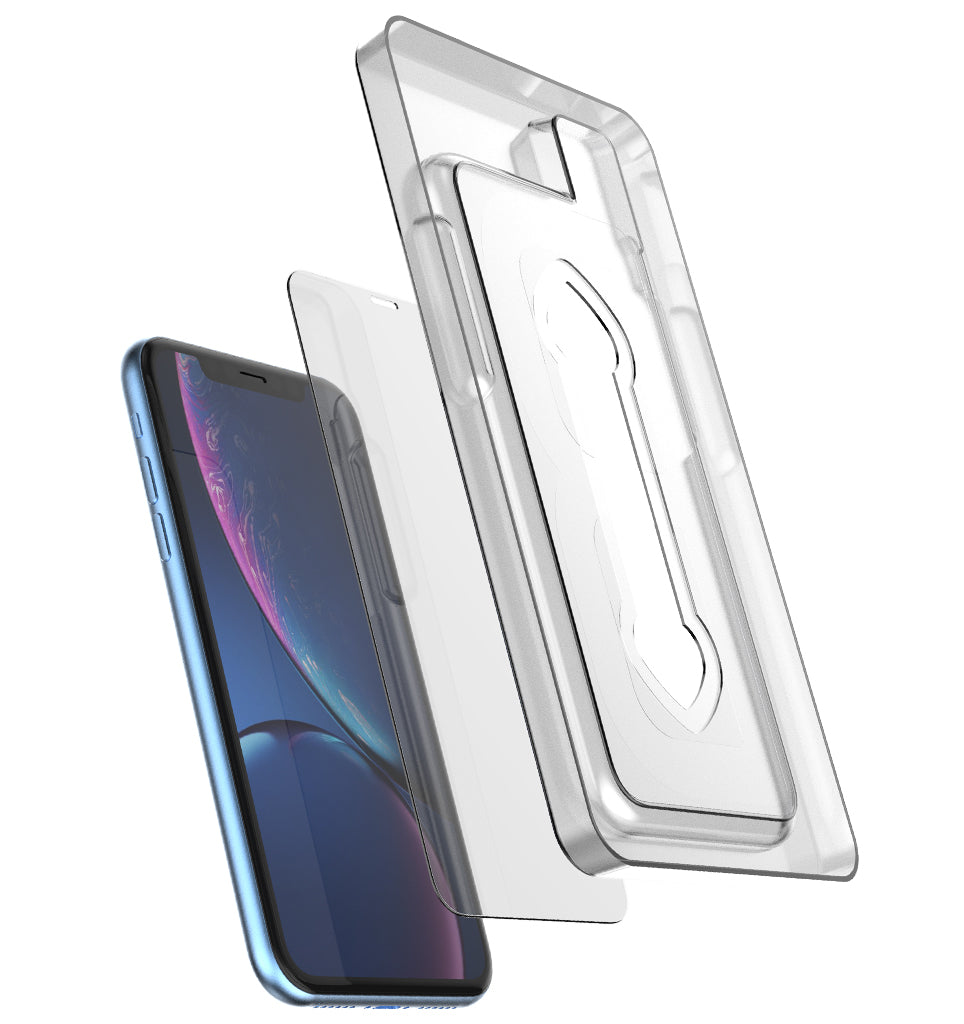Premium Tempered Glass Protector (Installation Tray) / iPhone Xr - Ballistic