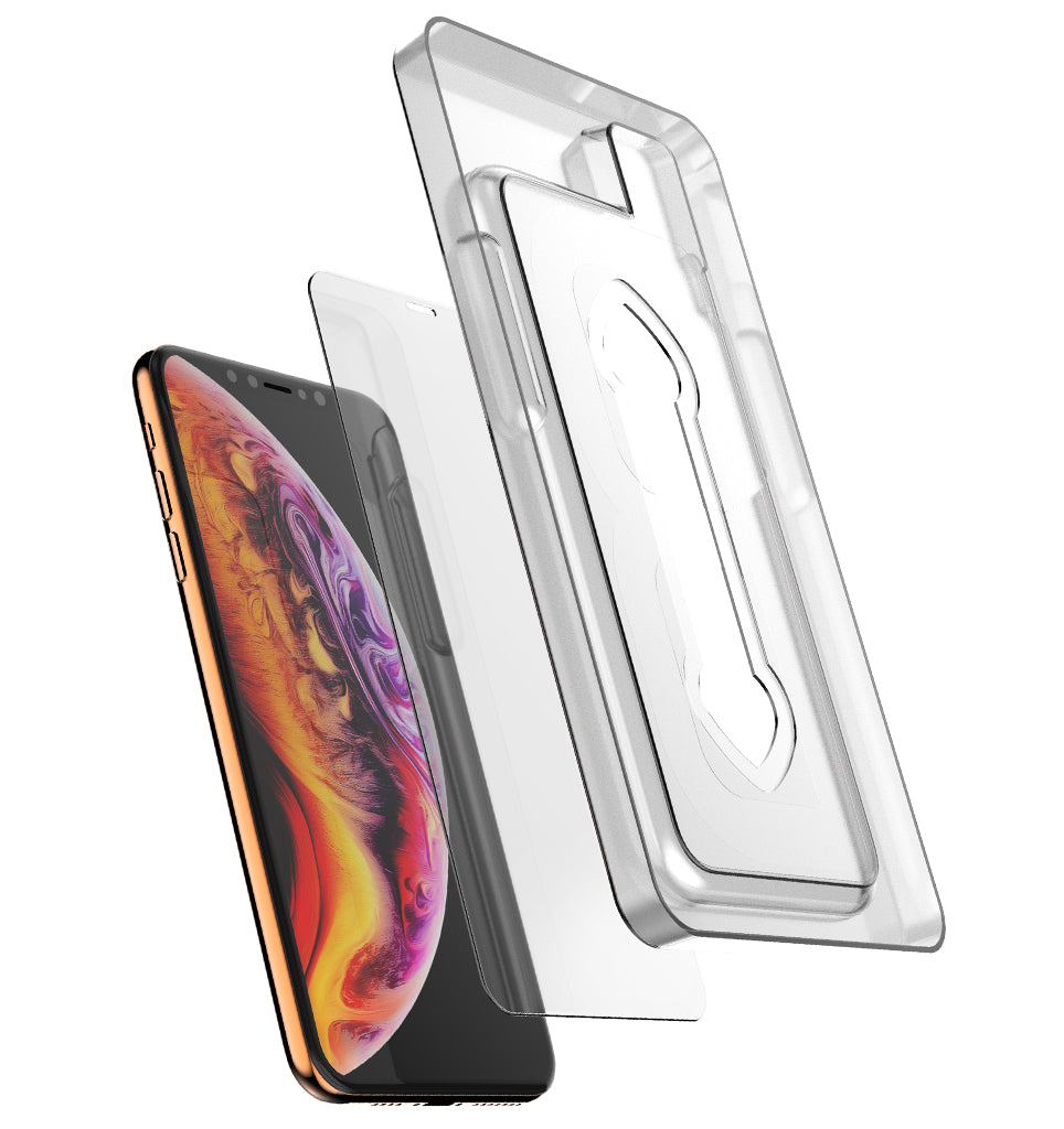 Premium Tempered Glass Protector (Installation Tray) / iPhone Xs Max - Ballistic