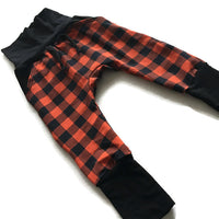 Buffalo Plaid Harem Pants