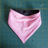 Light pink and 2 Tone Charcoal Drool Bib - One Size RTS