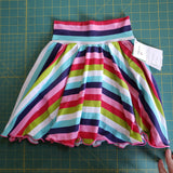 Striped circle skirt with shorts - size 5-6 years RTS