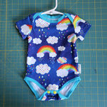 Rainbow Night bodysuit - size 6 months RTS