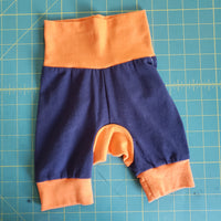 Blue and Orange Monster Bunz Shorts - 3-12 months RTS