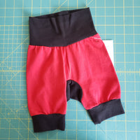 Red and Black Monster Bunz Shorts - Size 3-12 months RTS