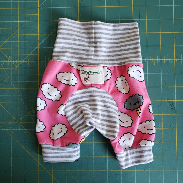 Pink Clouds Monster Bunz shorts - size 0-6 months RTS