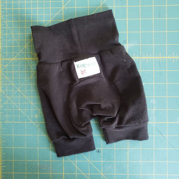 Black Monster Bunz shorts - size 0-6 months RTS