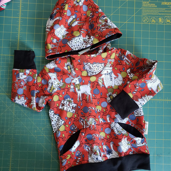 Christmas Character Hoodie - size 18-24 months RTS