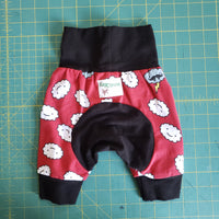Red Cranky clouds Monster Bunz shorts - size 3-12 months RTS