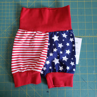 Red white and blue Shorts - size 3-12 months RTS