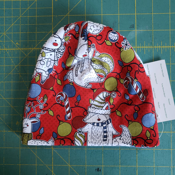 Christmas Characters slouchy beanie - 3-6 months RTS