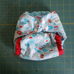 Winter Mitten One size pocket cloth diaper RTS