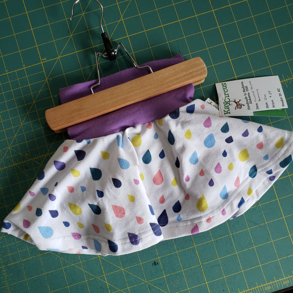 Raindrop skirted bummies - size 12 months RTS