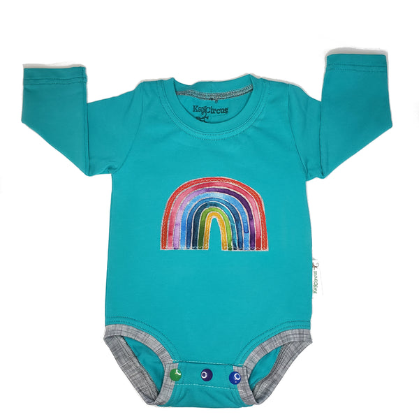 Rainbow Applique Bodysuit, 6 months RTS