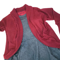 Girls Dress with Cardigan