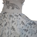 Geo Foxes Dress, Black and Grey Dress
