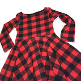 Girl's Red Buffalo Plaid Dress