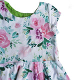 Pink Watercolor Floral Isla dress