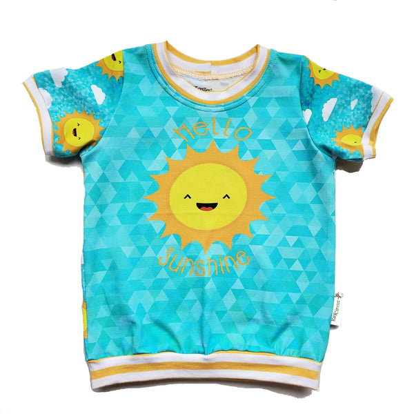 Hello Sunshine Ringer Tee Shirt